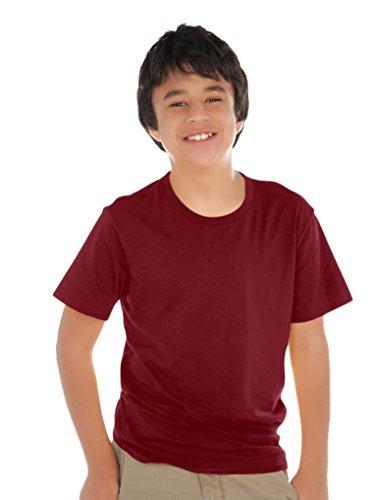 Kavio! Youth Crew Neck Short Sleeve Tee (Same YJP0495) Wine (Jersey Boy Wine)