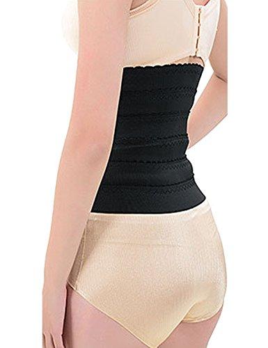 cideary Mujer Entrenamiento cintura corsé Shaper cuerpo para mujer Underbust Cincher Negro