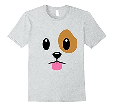Puppy Dog Emoji Face Halloween Costume T-Shirt