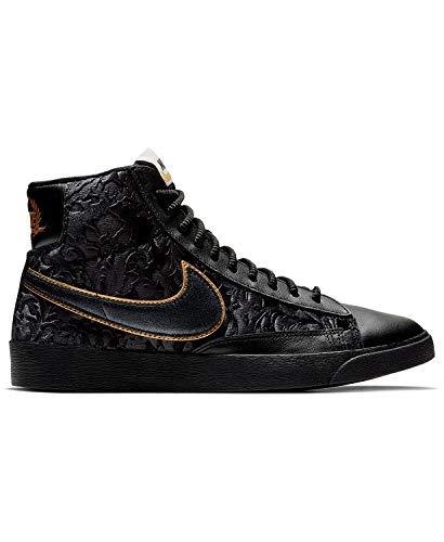 - Nike Womens Blazer Mid Sneaker (Black/Metallic Gold-Summit White-Black, Size 10 M US)