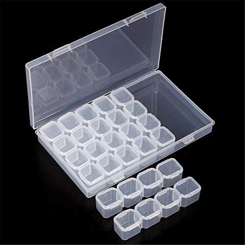 Bubbry Caja de Taladro de uñas Caja de plástico vacía Caja de Almacenamiento Caja 28 Cajas Transparente: Amazon.es: Industria, empresas y ciencia
