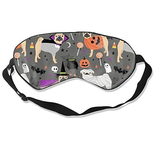 (Pug Halloween Costume Cute Dogs in Costumes Grey Sleep Mask Pack Men and Women Or Children Eye Mask No Pressure Eye Masks for Sleep &)