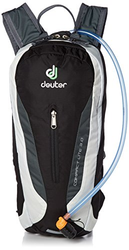 (Deuter 420011671300 Black/White Compact Lite with 3 Liter Reservoir - Perfect for Hiking, Biking, Hunting, Off-road and Motorcycling)