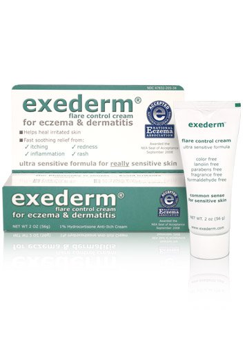 Exederm Ultra Hypoallergenic Eczema Dermatitis Flare Control Cream, NEA Accepted (2 oz tube) (Control Cream)