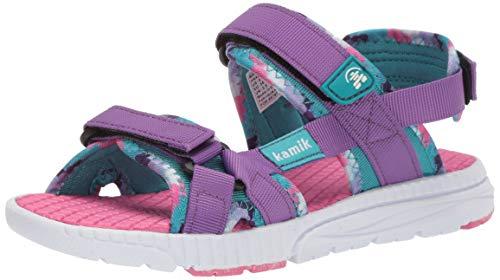 Kamik Girls' MATCH2 Sandal Purple 7 M US Toddler