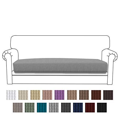 Easy-Going Stretch Cushion Cover Sofa Cushion Furniture Protector Sofa Seat Sofa slipcover Sofa Cover Soft Flexibility with Elastic Bottom(Oversized Sofa Cushion,Light Gray) (Cushions Furniture Summer)