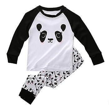 Boys Girls Pajama Set - Sodial(r)cute Panda Baby Toddler Kids Boys Girls Sleepwear Nightwear Pajama Set 4t 0
