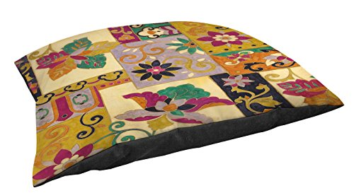 Collage Fleece (Manual Woodworkers & Weavers Fleece Top Toy or Small Breed Pet Bed, Jacobean Collage, Multi)