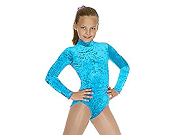 940d0bea1 Girls Long Sleeved Crushed Velvet Leotard - Gymnastics Dance Long ...