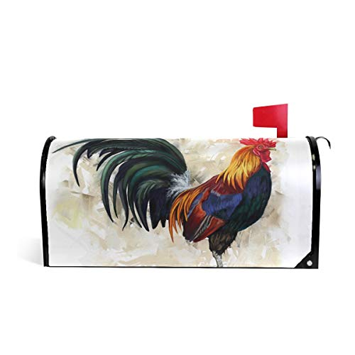 JOYPRINT Magnetic Mailbox Cover Animal Rooster Pattern, Standard Size 21