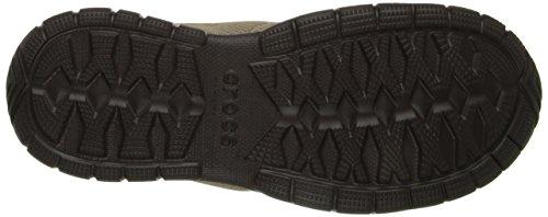 Crocs Mens Swiftwater Mesh Moc Slip-on Loafer Kaki / Espresso