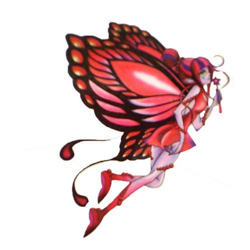 Watertight and sweat of the red butterfly fairy angel tat...