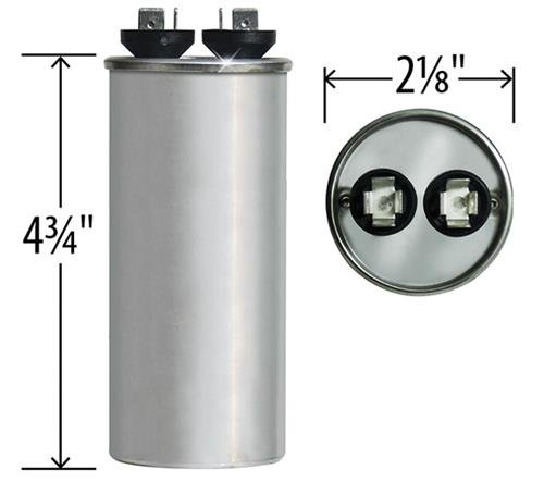 97F9645 Packard PRCF45-45 uF MFD x 440 VAC Genteq Replacement Capacitor Round # C445R