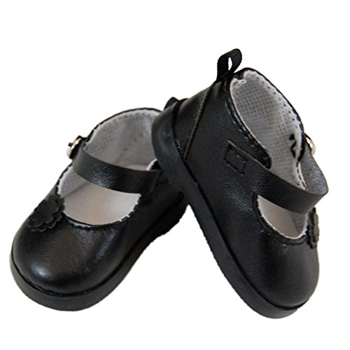 Designer Black Mary Jane Style 18 Inch Doll Shoes, Clothing Accessories Fits American Girl Doll Clothes. Complete with Authentic Shoe Box By the Queen's Treasures
