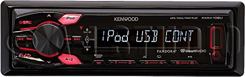 Kenwood KMM-108U Single-Din In-Dash Mechless Media Receiver with Front USB