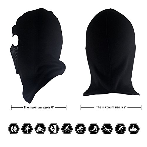 Tagvo Warm Balaclava Full Face Mask Cover with Breathable Mesh Silicone Panel, Winter Fleece Warmer Wind Proof, Fit Helmet Hat for Adults Women and Men