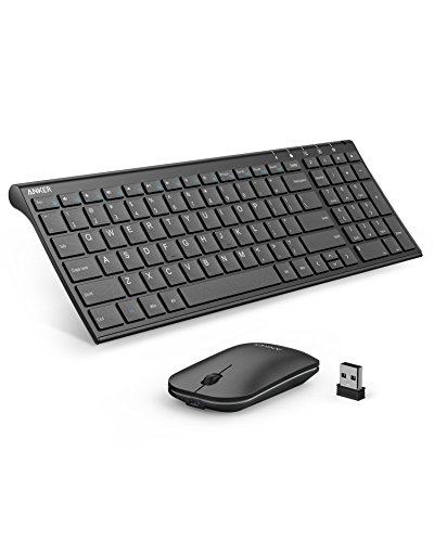 Anker 2.4GHz Wireless Keyboard and Mouse Combo for Windows Devices, Portable Design with Built-In Lithium Battery by Anker