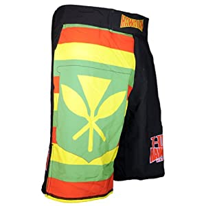 "Hawaiian Fight Gear-HFG ""Sovereignty Flag"" Quad-Tech Stretch Fabric Fightshorts 6"