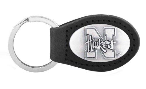 - NCAA Nebraska Cornhuskers Black Leather Concho Key Fob, One Size