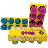 Jewel Shaped Ring-Popsicle Molds Set - 8 Ice Pop Maker with Ring Holder