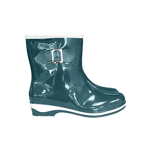 Kurze Damenstiefel BTDKMORNING 36-41 Regenstiefel Regenschuhe Gummistiefel Knöchelschuhe Grün-Weiß