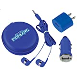 Wisconsin Platteville 3 in 1 Royal Audio Travel Kit 'Official Logo'
