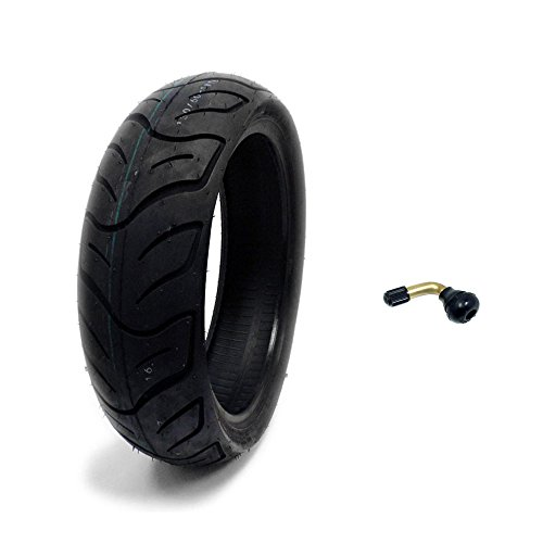 (Tire 130/60-13 Tubeless Front/Rear Motorcycle Scooter Moped + FREE TR87 Bent Metal Valve Stem)