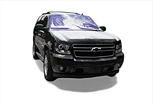 Frostguard ProTec | Premium Winter Windshield Cover for Snow, Frost and Ice - Cold Weather Protection for Your Vehicle, Purple - XL Size, Fits Most Minivans, Large Trucks and SUVs