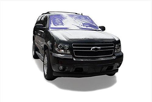FrostGuard ProTec   Premium Winter Windshield Cover for Snow, Frost and Ice - Cold Weather Protection for Your Vehicle, Purple - XL Size, Fits Most Minivans, Large Trucks and SUVs