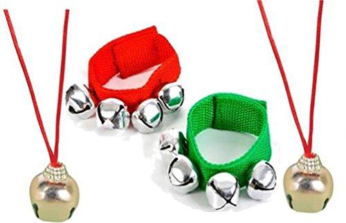 Jingle Bell Band Bracelets Necklaces