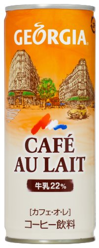 Georgia Coffee - Café Au Lait (Canned Japanese Coffee) 30 Can Box by Georgia