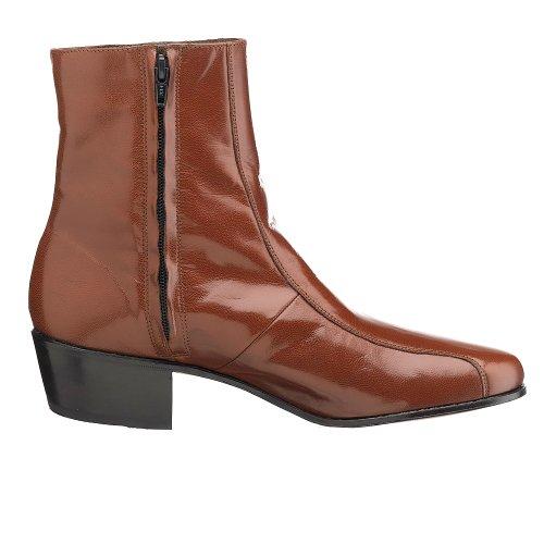 Dress Boot Cognac Duke Florsheim Zip Men's Side SXwIwqAR