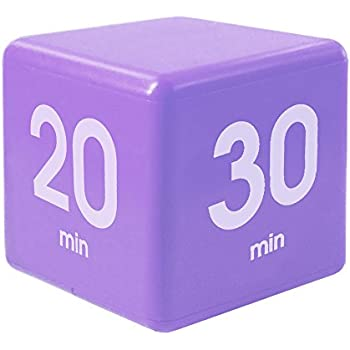 The Miracle Cube Timer, 5, 10, 20 and 30 Minutes, for Time Management, Kitchen Timer, Kids Timer, Workout Timer, Purple