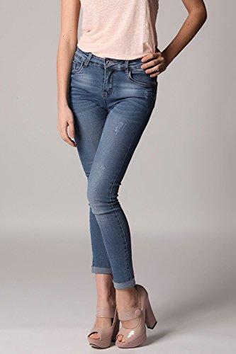 Q2 Women's Skinny Jeans zerrissenes Design und hoher Taille