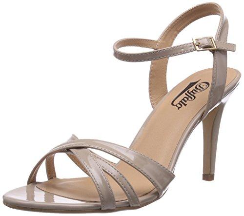Buffalo Shoes 312703 PATENT PU, Damen Knöchelriemchen Sandalen, Beige (BEIGE 01), 40 EU