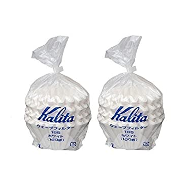 2 X Kalita:Wave Series Wave Filter 185[2-4 Persons] White.100 Pieces 22212 (Japan Parallel Import)