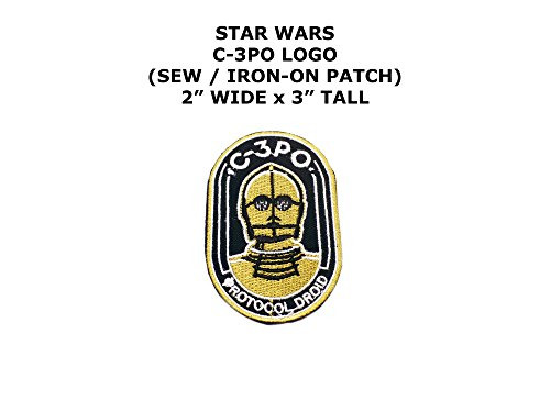 [C-3PO Star Wars DIY Embroidered Sew or Iron-on Applique Patch Outlander Gear] (C3po Costume Diy)