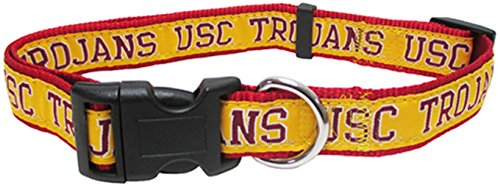 Pets First Collegiate USC Trojans Pet Collar, Medium