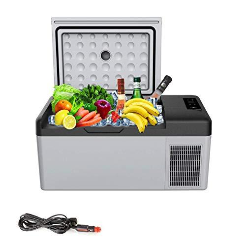 LQ-Mini Fridge 15L Portable Refrigerator for Car AC DC 24V 12V Picnic Camping Party Led Compressor Car Refrigerator Auto Cooler Freezer