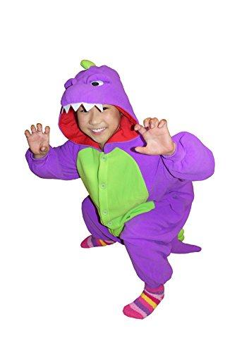 Dinosaur Kids Kigurumi (2-5 Years, Purple)