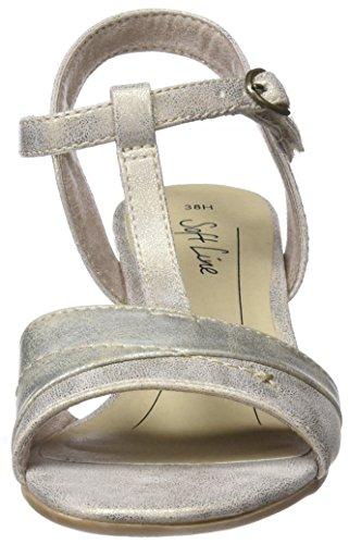 T Donna a Gold Comb 28360 Sandali Softline Oro Chiusura con xBgXqw
