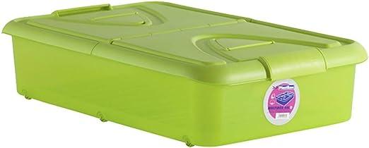 Plastiken - Caja bajo cama 60 l 80x50x18 pistacho: Amazon.es: Hogar