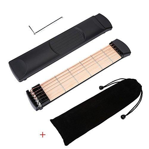포켓 기타, 6 Fret 휴대용 기타 트레이너 손가락 운동 & amp; ..