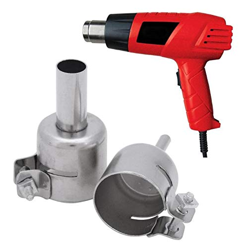 Heat Guns - Aluminum Alloy 8pcs Universal Meatal Heat Gun Resisting Nozzles Air Guns Silver 3 4 5 6 7 8 10 12 - Embossing Shrink Cell Cars For Electronics Removal Working Dewalt Crafts