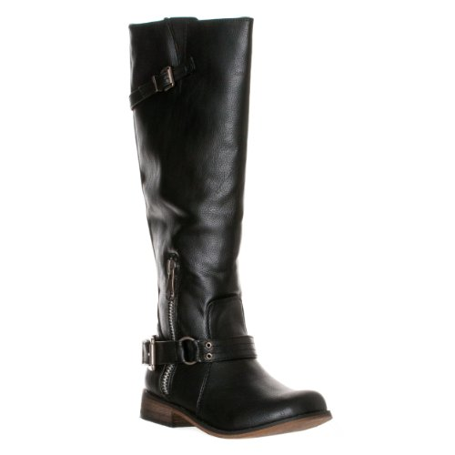 Breckelle's Boots High Tenesee Women's Buckle Detail Knee 15 Black ZWZrqf41