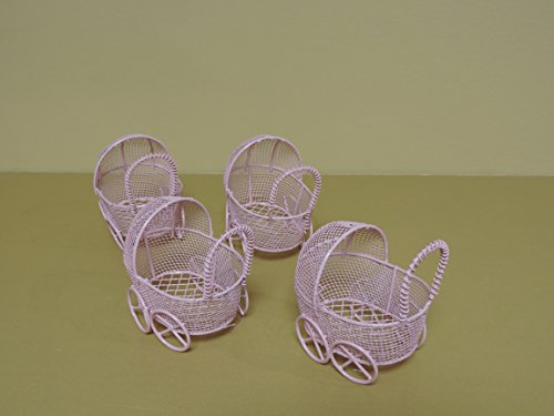 wire baby carriage centerpiece - 5