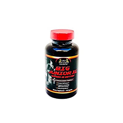 BIG JUNIOR XL, BIGGER IS BETTER,2+ inches plus in 60 days PENIS ENLARGEMENT, INCREASE ENERGY AND ENDURANCE, 100% NATURAL, 100% MADE IN USA,60 capsules per bottle,INCREASE LIBIDO!
