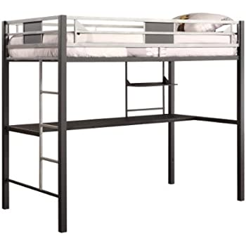 Dhp Silver Screen Twin Metal Loft Bed