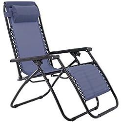 Sunjoy Oversized Zero Gravity Chair - Blue