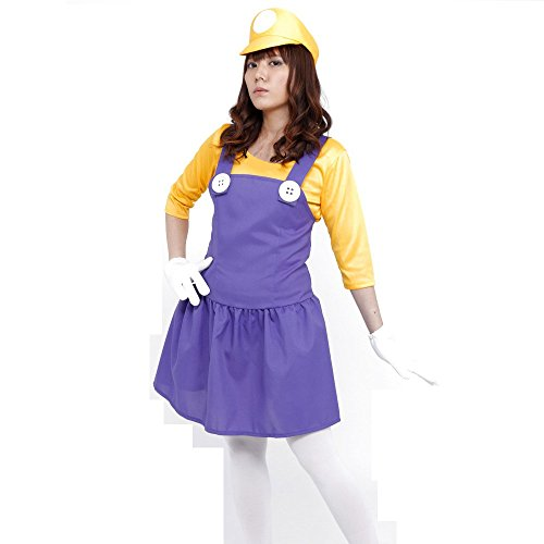 PATYMO Powerful Girl Costume Yellow - Teen/Women's XS/S
